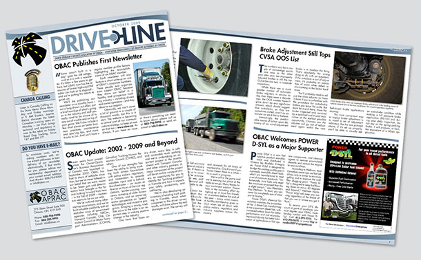 Drive Line - The Monthly Newsletter of the Owner-Operator's Business Association of Canada.