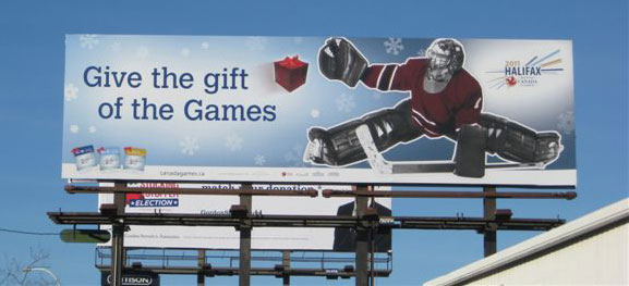 Holiday billboard design for the Halifax 2011 Canada Games