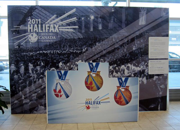 Halifax 2011 Canada Games medals kiosk