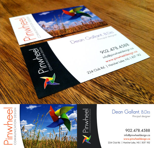 Pinwheel Communication Design business cards