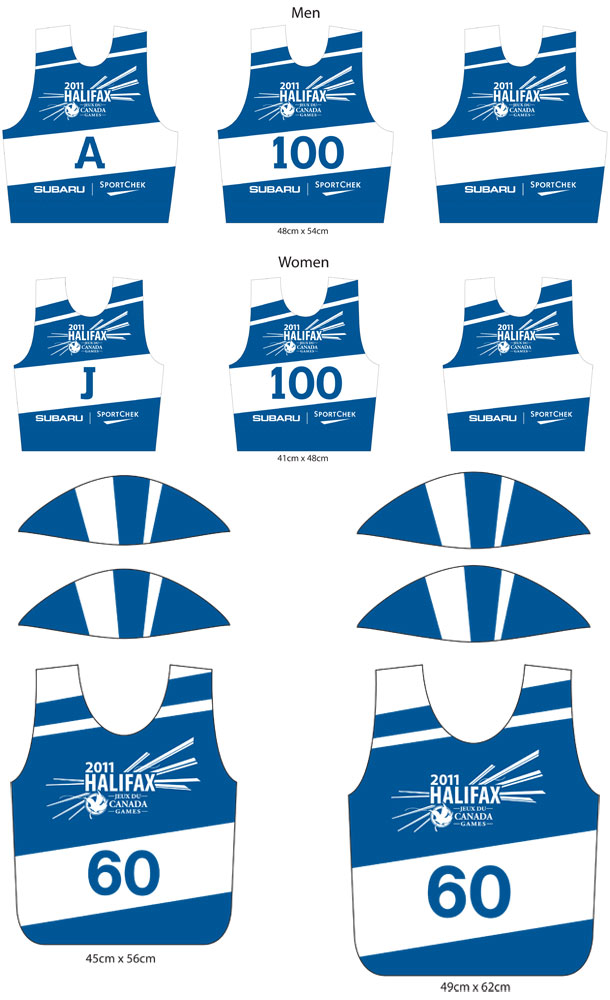 Halifax 2011 Canada Games athlete bib designs