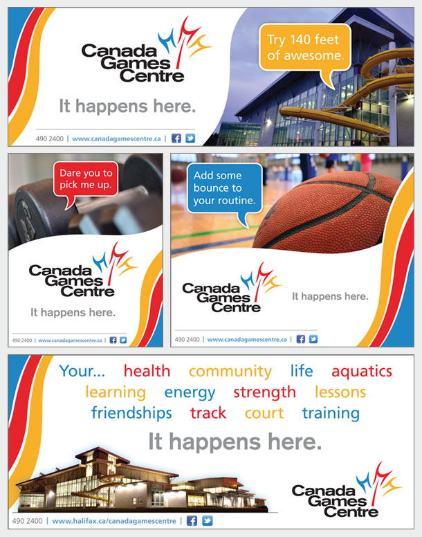 Canada Games Centre - print ads