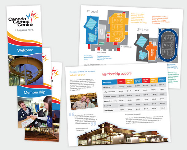 Canada Games Centre - brochures