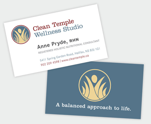 Clean Temple Wellness Studio - business cards