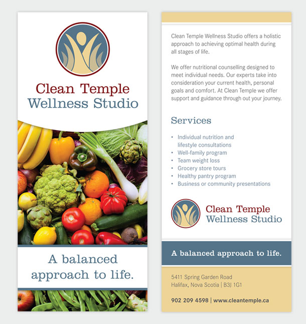 Clean Temple Wellness Studio - rack card